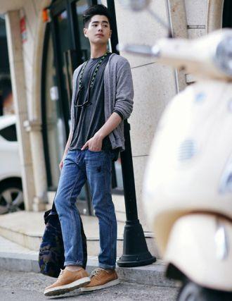 Áo khoác nam Cardigan Hàn Quốc ấm áp ngày se lạnh