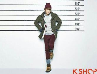 Áo khoác phao dạ nam đẹp Hàn Quốc đông thương hiệu NII