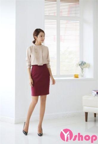 Áo sơ mi nữ cổ tròn Hàn Quốc đẹp công sở duyên dáng tự tin