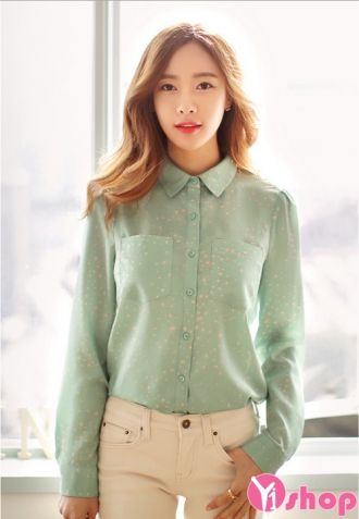 Áo sơ mi nữ Hàn Quốc đẹp cho nàng công sở trẻ trung thời trang
