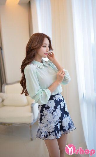 Áo sơ mi nữ vải voan mỏng Hàn Quốc đẹp cho nàng phong cách gợi cảm