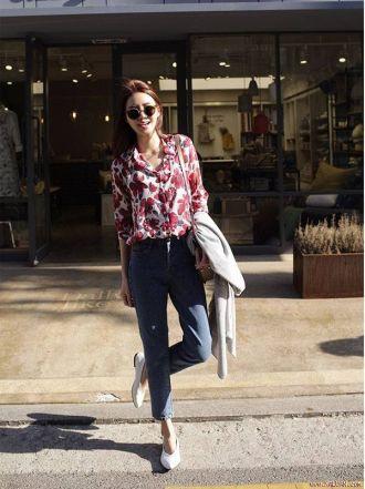 BST Áo sơ mi nữ công sở đẹp Hàn Quốc cho bạn gái hơi gầy
