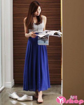 BST Chân váy đầm midi dài đẹp hàn quốc cho nàng duyên dáng