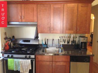 Cách cải tạo bếp tối tăm trở nên sáng đẹp không tốn kém