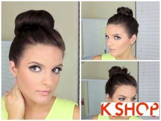 Cách làm những kiểu búi tóc cao đơn giản dễ làm cho cô nàng cá tính