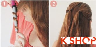 Cách tết tóc kiểu Hàn Quốc hình trái tim dễ thương tại nhà