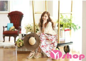 Chân váy đầm hoa xòe đẹp rực rỡ sắc màu cá tính
