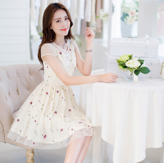 Chân váy đầm xòe đẹp Hàn Quốc trẻ trung cho bạn gái xuân cá tính