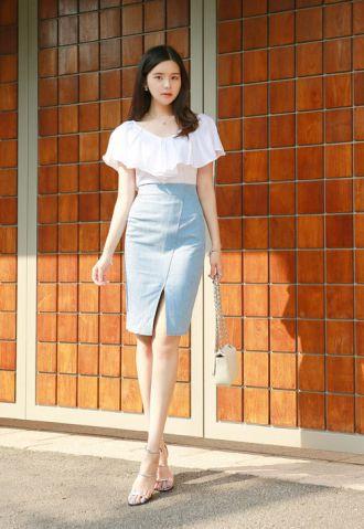 Chân váy denim xu hướng trở lại 2016
