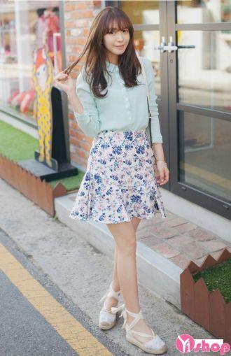 Chân váy loe đẹp cho nàng vòng 3 to quyến rũ dạo phố cá tính