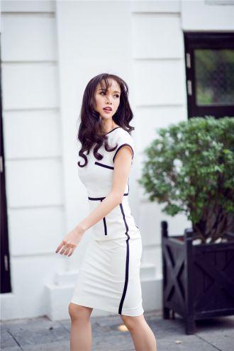 Diện váy bút chì khoe triệt để đường cong Vũ Ngọc Anh