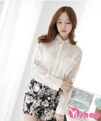 Kiểu áo sơ mi trắng nữ đẹp Hàn Quốc cho nàng công sở lịch lãm