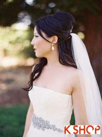 Kiểu tóc cô dâu đầy quyến rũ cuốn hút trong ngày cưới hạnh phúc