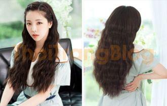 Kiểu tóc dài xoăn gợn sóng nhẹ đẹp dễ thương cho nàng dịu dàng