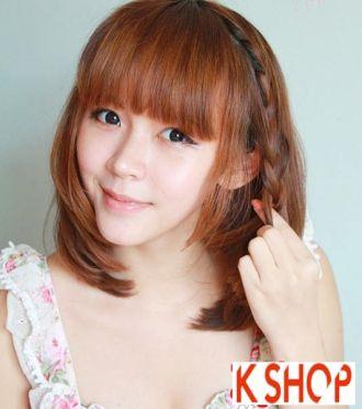 Kiểu tóc ngang vai Hàn Quốc cho bạn gái trẻ trung quyến rũ