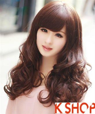 Kiểu tóc xoăn phong cách Hàn Quốc cho cô nàng thanh lịch