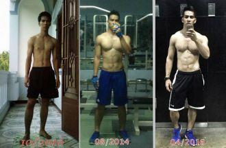 Lột xác nhờ kiên trì tập gym