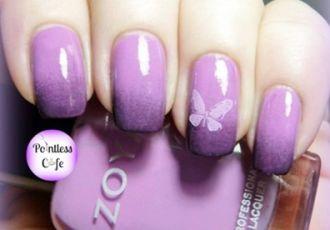 Mẫu nail màu tím đẹp cho bạn gái lãng mạn