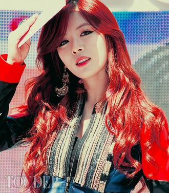 Màu tóc nhuộm nâu đỏ cực đẹp sao kpop hàn quốc độc đáo