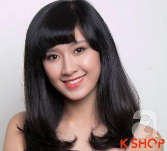 Những kiểu tóc dài ngang vai Hàn Quốc đẹp cho bạn gái dịu dàng