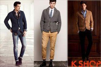 Những mẫu Áo khoác cardigan nam cổ bẻ đẹp ấm áp thanh lịch