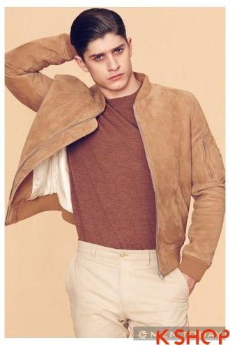 Những mẫu áo khoác da nam đẹp sành điệu ấm áp xuống phố