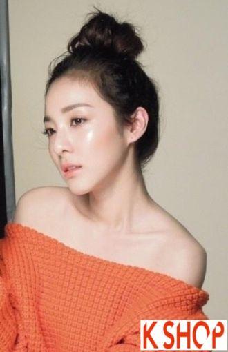 Tóc búi đẹp Hàn Quốc dễ thương cho cô nàng nên làm theo