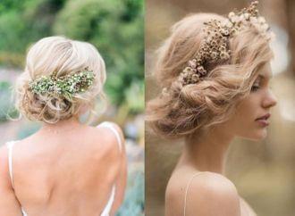 Tóc búi rối đẹp đơn giản cho cô dâu dễ thương trong ngày cưới tự tin
