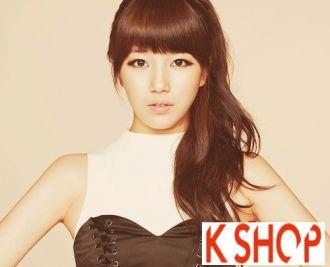 Tóc mái bằng Hàn Quốc cô nàng mặt tròn mũm mĩm