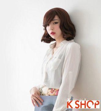 Tóc ngắn Hàn Quốc cho bạn gái trẻ trung cá tính xuống phố