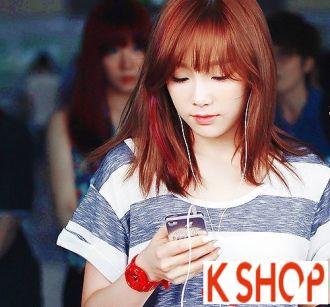 Tóc ngắn ngang vai đẹp nhất sao Hàn Quốc nhiều kiểu dáng