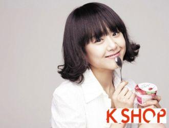 Tóc xoăn vểnh ngắn ngang vai Hàn Quốc cho bạn gái