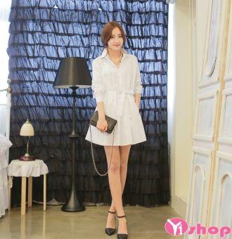 Váy đầm trắng liền thân đẹp kiểu hàn quốc độc đáo đáng yêu