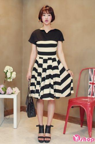 Váy đầm xòe liền thân đẹp cho nàng mập mạp duyên dáng