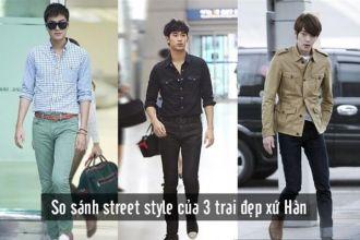 Phong cách đường phố của 3 trai đẹp xứ Hàn