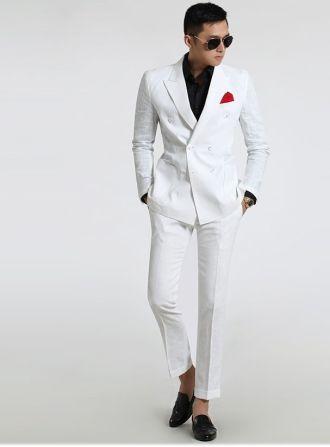 Áo vest nam trắng công sở làm 'xiêu lòng phải đẹp'