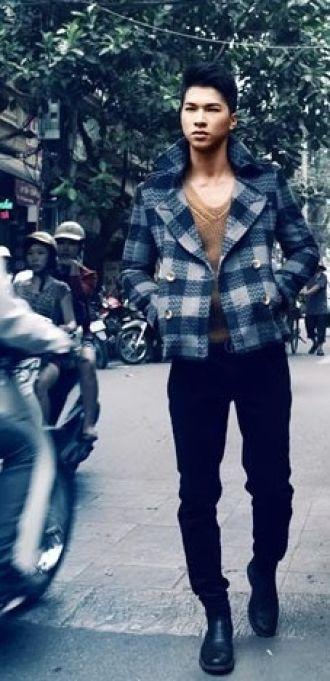 Áo khoác nam thanh lịch, ấm áp dạo phố Hà Nội