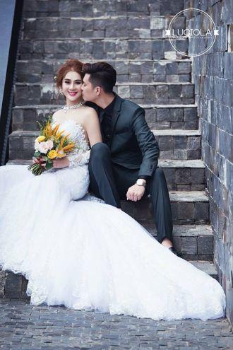 Bộ ảnh cưới đẹp lung linh của Lâm Khánh Chi