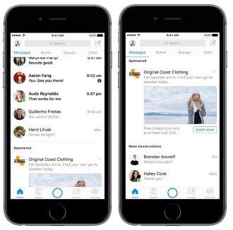 Đừng quá ngạc nhiên khi quảng cáo xuất hiện trong Facebook Messenger