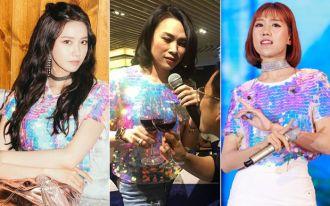 Sao Việt bị so sánh lép vế hơn sao Hàn khi mặc giống đồ