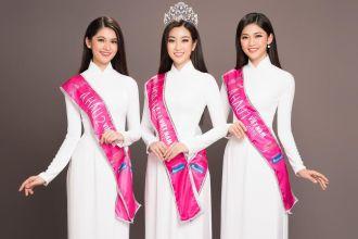 Những mỹ nhân đẹp nhất Hoa hậu Việt Nam với áo dài trắng thuần khiết