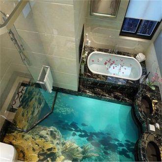 16 kiểu sàn nhà tắm 3D đẹp xuất sắc