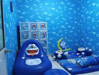 """Dân mạng """"rần rần"""" khoe ảnh phòng hình Doraemon"""