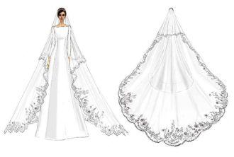 Mẫu váy cưới của công nương Meghan Markle được làm thế nào