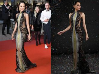 Vũ Ngọc Anh bị tố nói dối mặc váy 1 tỷ tại LHP Cannes