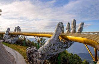 Cầu Vàng Đà Nẵng ngày càng hấp dẫn