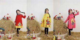 Mẫu nhí nổi tiếng Hà thành trong tà áo dài trẻ em