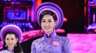 Thí sinh Hoa hậu Việt Nam 2018 dịu dàng trong tà áo dài