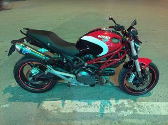 Ducati Monster 795 lên tem Ducati cross đen đỏ trắng