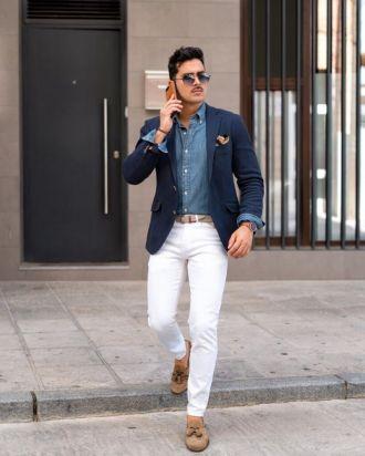 3 kiểu quần jeans phối với áo blazer đẹp nhất mà chàng cần nên có